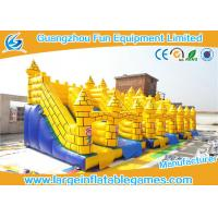 Wholesale Durable Yellow Commercial Inflatable Slide Inflatable Castle Slide For Playing from china suppliers
