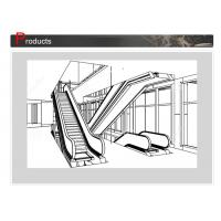 Wholesale SN - ES - D045 Elevator Escalator With Round Handrail Inlet Cap And Clearly Contrasted Floor Plate from china suppliers
