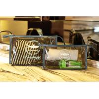 PVC Travel Kit Zipper Pouch Transparent Vinyl Make-up Pouch for Swimming and Beach for sale