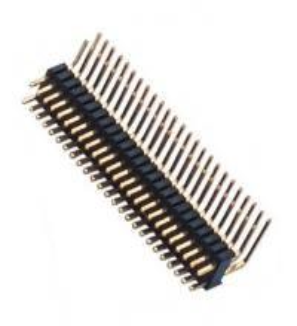 Wholesale Dual Row Pin Header 1.27*2.54 Right Angle Dual Row 90° DIP 50 Pin Header PA9T black ROHS from china suppliers