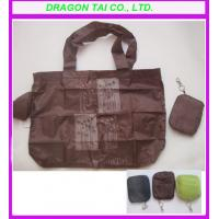 Wholesale Folding shopping bag in a pouch with keychain, foldable shopping bag from china suppliers