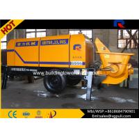 Wholesale Mini Electric Concrete Pump 4.5 tons Weight 0.6M3 Hopper Capacity from china suppliers