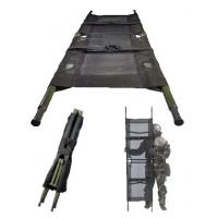 Wholesale Rescue Patient Portable Aluminum Alloy Pole Folding Stretcher 190 × 74 × 49cm from china suppliers