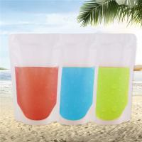 Wholesale Zipper Reusable Clear Drinking Beverage Bag / Transparent Plastic Bag For Cocktail from china suppliers