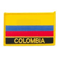 Wholesale South America Flag with Name Embroidered Patch Colombia from china suppliers