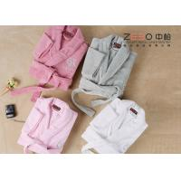 Wholesale Professional Hotel Style Dressing Gowns , Womens Spa Robes Easy Wash from china suppliers