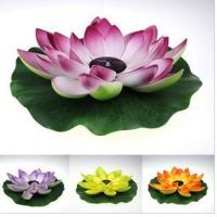 Wholesale Multi-Color RGB Garden Pool Floating Lotus Leaf Solar Powered LED lamp Flower Night Light Fountain Pond Solar Lighting from china suppliers