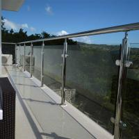 Wholesale SS316 exterior stair railing systems with laminated glass design from china suppliers