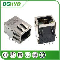 Wholesale Tab Down 10/100 Base network connectors rj45 with led and EMI Fingers from china suppliers
