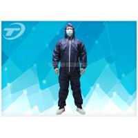 Wholesale Waterresistance Elastic Cuffs Disposable Coverall Suit PE Coated PP Fabric from china suppliers