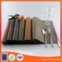 Wholesale DIY Textilene table mat PVC placemats it can reuse after washing from china suppliers