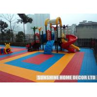 China Colorful Mudular Interlocking Sports Flooring , Outdoor Waterproof Basketball Floor on sale