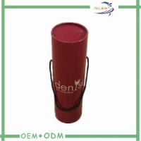 Wholesale Red Printing Paper Tube Box  With Handle with Matt Lamination / CMYK Printing from china suppliers