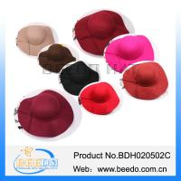 China New design wool felt large brim floppy hat for ladies on sale