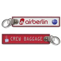 Wholesale Air Berlin Crew Baggage Tag Embroidery Keychain Key Chain from china suppliers