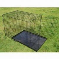 Wholesale Pet Cage, Collapsible Pet Dog Cage with Plastic Tray, Available in Various Colors and Sizes from china suppliers