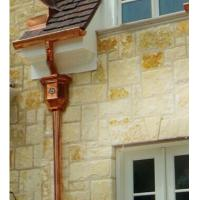 "Wholesale Semi-circle Copper Rain Gutter / Rain Gutters Downspouts 3"" Round from china suppliers"