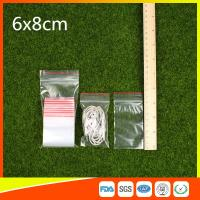 Wholesale Polythene Clear Ziplock Bags Self Press Bags Grip Seal Bag With Red Lines from china suppliers