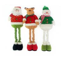Wholesale Stuffed Reindeer Snowman Doll Christmas Plush Toys With Streaching Leg from china suppliers