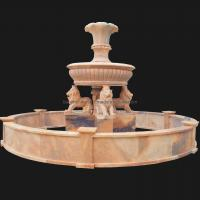 Wholesale White Marble 3 Tiers Garden Stone Fish Water Fountain from china suppliers