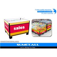 Wholesale Steel Promotional Display Counter Storage Containers For Supermarket Products Promotion from china suppliers