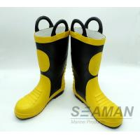 Quality Steel Toe Fireman Rubber Boots Fire Fighter'S Equipment EN15090-2012 Safety Shoes for sale