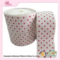 Wholesale 2 Inch White Custom Printed Grosgrain Ribbon With Red Polka Dots For DIY Handwork from china suppliers
