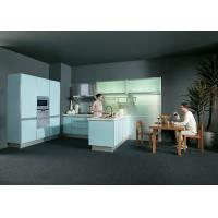 Wholesale UV Light Blue Kitchen Cabinets With Stove And Oven For Home / Hotel / Apartment from china suppliers