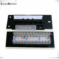 Wholesale Network 6Port mini patch panel Cat5e 12ports patch panel FLUKE Test from china suppliers