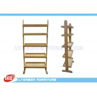 Wholesale Stores Custom Color MDF Wooden Display Racks With Shelves / Melamine Finished from china suppliers