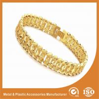 Wholesale Fashion Jewelry OEM Men Wide Metal Chain Bracelet 18k Gold Chain Radiation Protection from china suppliers