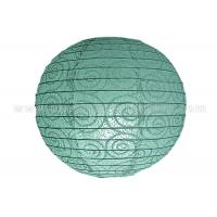Wholesale Eyelet Lace Look  Round Paper Lanterns with lights For Party Decoration , Wedding from china suppliers