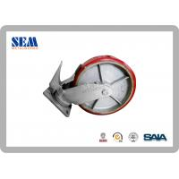 Wholesale 8 Inch Systems Scaffolding Pu Caster Iron Wheel C8p With Lock from china suppliers