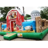 Quality Inflatable Pig Farmyard Toddler Bounce House With Animals Models , Repair Kits for sale