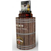 Wholesale Logo Printing Store Shop Solid Wood Wine Storage Shelves With Painting Finish from china suppliers