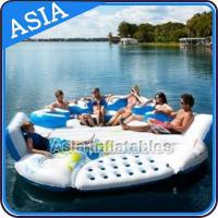 Wholesale 0.9mm Durable PVC Tarpaulin Inflatable Island Floating Lounge from china suppliers