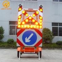 Wholesale Road Construction Mobile Solar Traffic Signal Directional Arrow / Cross Board Trailer from china suppliers