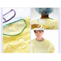 Buy cheap PP nonwoven medical gowns , green disposable isolation surgical gown for hospital from wholesalers