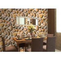 Wholesale Cobblestone Printing Natural 3D Home Living Home Decor Wallpapers CE / ISO / SGS / CSA Test from china suppliers