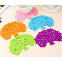 Wholesale high quality factory price colorful Felt Cup Mat  Sweet Cup Pad Coaster from china suppliers