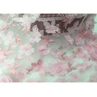 Wholesale Tulle Tape Embroidery Mesh Lace Fabric 3d Flower 49-50 Width For Wedding from china suppliers
