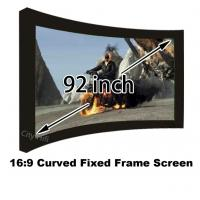 Wholesale Wonderful Photo 92 Inch Arc Fixed Frame Wall Mount 4k Projection Screens 16:9 Format from china suppliers