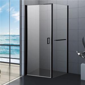 Quality 800x800 Black Bathroom Shower Enclosure, Square Shower Kits with Towel Rack for sale