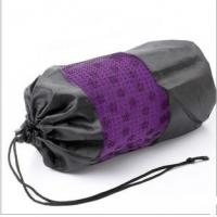 Wholesale purple yoga towel with mesh bag for yoga from china suppliers