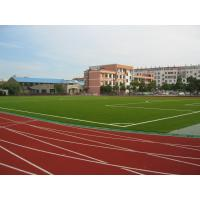 Wholesale 25mm Red Artificial Grass Sports Turf Yarn , 9000 Dtex 100% PE Durable Grass from china suppliers