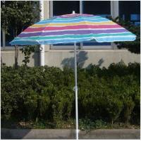 Wholesale Large Manual Open Beach Sun Umbrella / Rainbow Striped Outdoor Umbrella from china suppliers