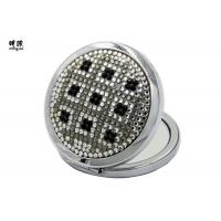 Wholesale Magnifying Feature Bling Silver Plated Compact Mirror Wedding Favours from china suppliers