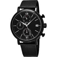 Wholesale Men's Quartz Chronograph Bracelet Watch with Stainless Steel Mesh Bracelet from china suppliers