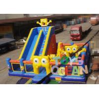 Wholesale High Durability Inflatable Spongebob Jumping Castle , Inflatable Amusement Park For Kids from china suppliers