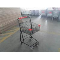 Wholesale 40L Folding Grocery Shopping Trolley , Singel Basket Supermarket Shopping Carts from china suppliers